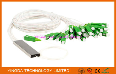 FTTH 1x32 Mini PLC Splitter Single mode Steel Tube LC APC Connectors