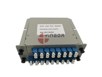 1x32 2x32 Lgx Plc Splitter Fiber Optic Cable Single Mode With LC SC Couplers